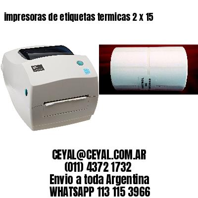 impresoras de etiquetas termicas 2 x 15