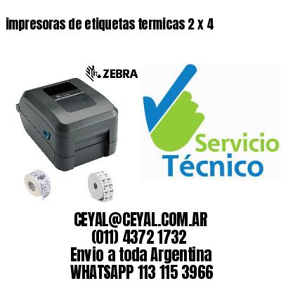 impresoras de etiquetas termicas 2 x 4