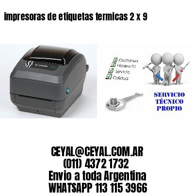 impresoras de etiquetas termicas 2 x 9