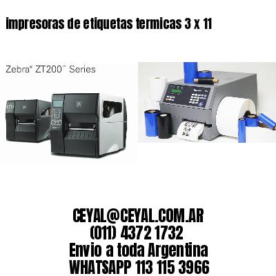 impresoras de etiquetas termicas 3 x 11