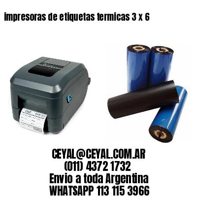 impresoras de etiquetas termicas 3 x 6