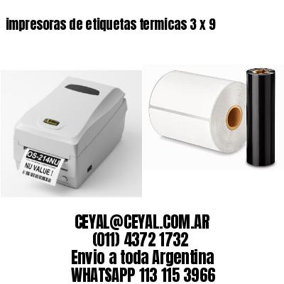 impresoras de etiquetas termicas 3 x 9