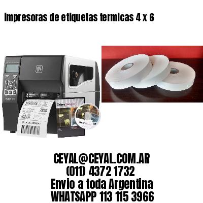impresoras de etiquetas termicas 4 x 6