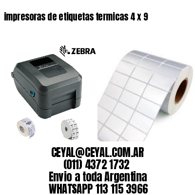 impresoras de etiquetas termicas 4 x 9