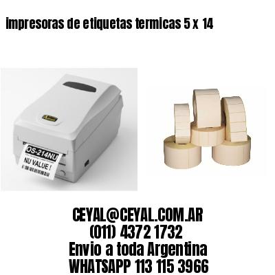 impresoras de etiquetas termicas 5 x 14