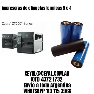 impresoras de etiquetas termicas 5 x 4