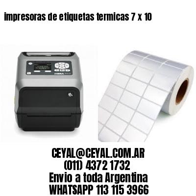 impresoras de etiquetas termicas 7 x 10