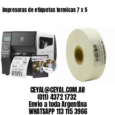 impresoras de etiquetas termicas 7 x 5