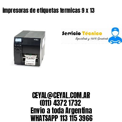 impresoras de etiquetas termicas 9 x 13