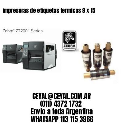 impresoras de etiquetas termicas 9 x 15