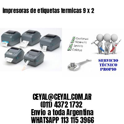 impresoras de etiquetas termicas 9 x 2