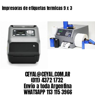 impresoras de etiquetas termicas 9 x 3