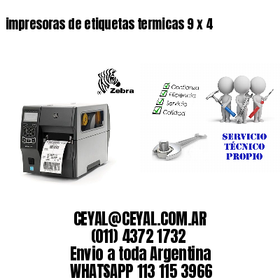 impresoras de etiquetas termicas 9 x 4
