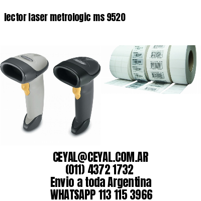 lector laser metrologic ms 9520
