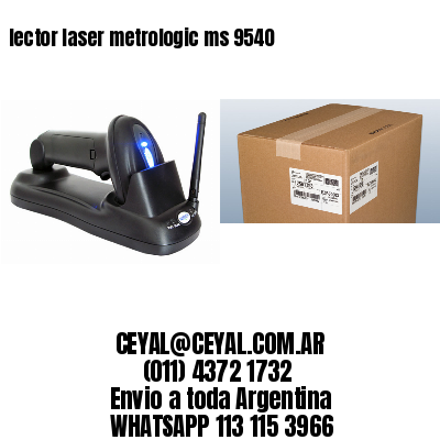 lector laser metrologic ms 9540