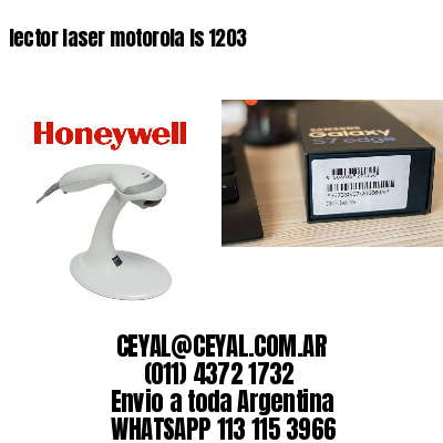 lector laser motorola ls 1203