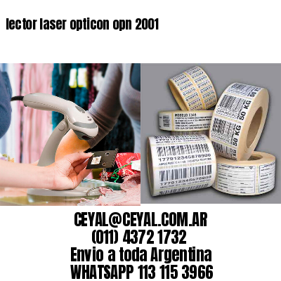 lector laser opticon opn 2001