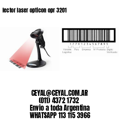 lector laser opticon opr 3201