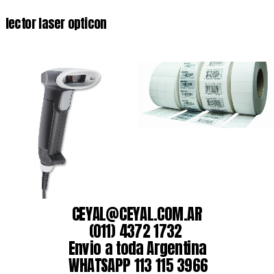 lector laser opticon