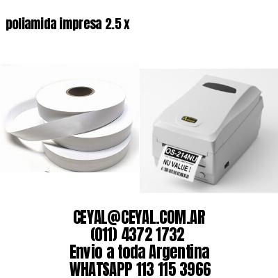 poliamida impresa 2.5 x