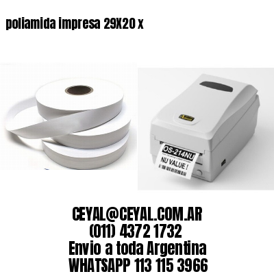 poliamida impresa 29X20 x