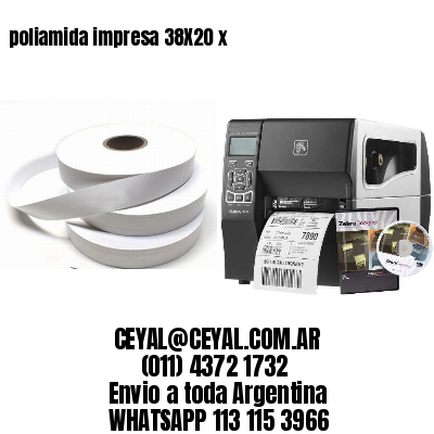 poliamida impresa 38X20 x
