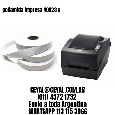 poliamida impresa 40X23 x