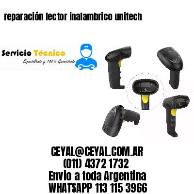 reparación lector inalambrico unitech