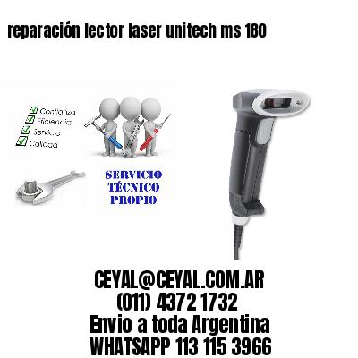 reparación lector laser unitech ms 180