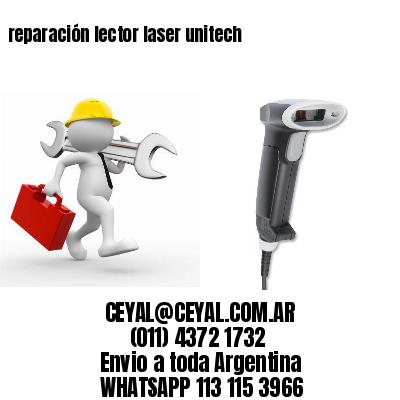 reparación lector laser unitech