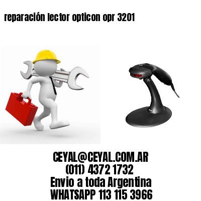 reparación lector opticon opr 3201