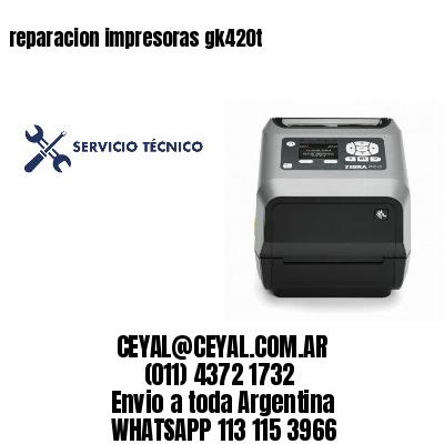 reparacion impresoras gk420t