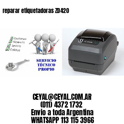 reparar etiquetadoras ZD420
