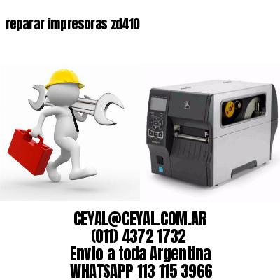 reparar impresoras zd410