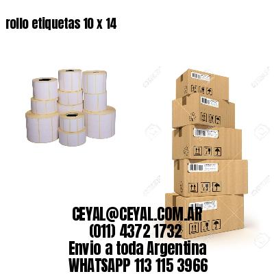 rollo etiquetas 10 x 14