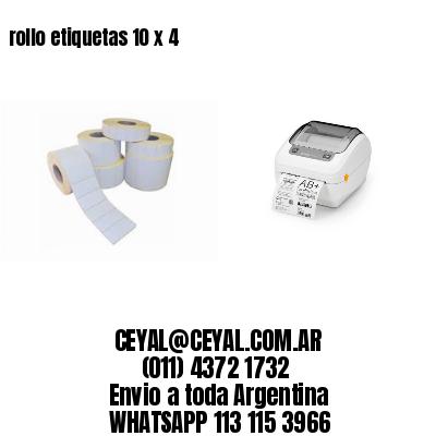 rollo etiquetas 10 x 4