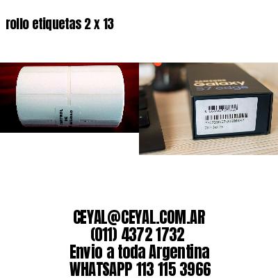 rollo etiquetas 2 x 13