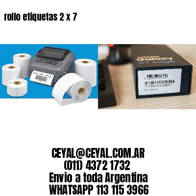 rollo etiquetas 2 x 7