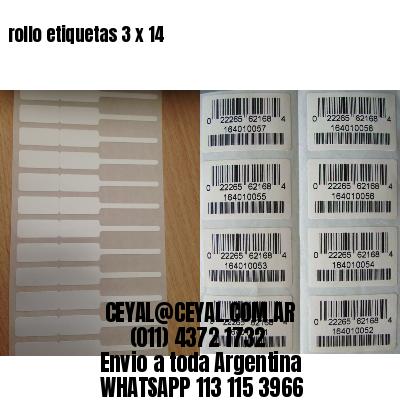 rollo etiquetas 3 x 14