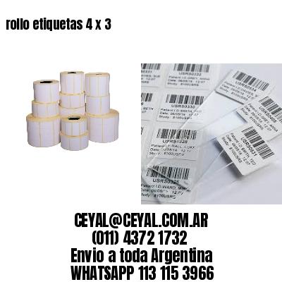 rollo etiquetas 4 x 3