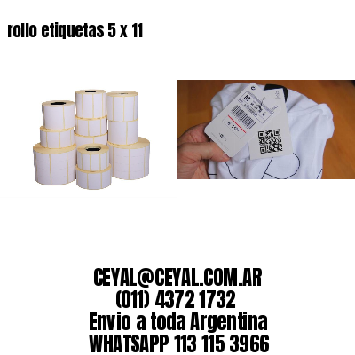 rollo etiquetas 5 x 11
