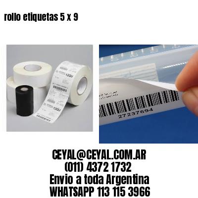 rollo etiquetas 5 x 9