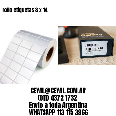 rollo etiquetas 8 x 14