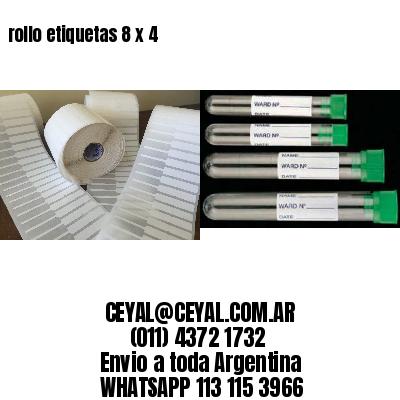 rollo etiquetas 8 x 4