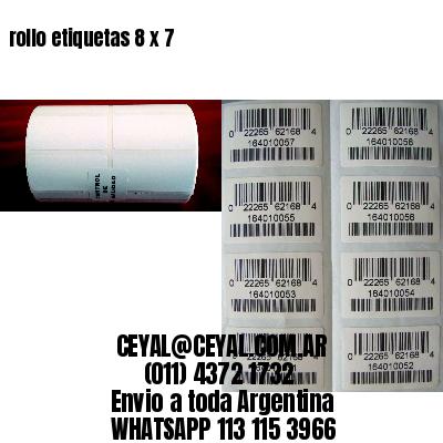 rollo etiquetas 8 x 7