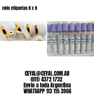 rollo etiquetas 8 x 8