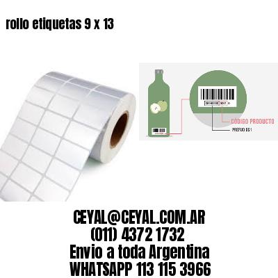 rollo etiquetas 9 x 13