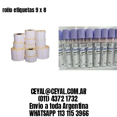 rollo etiquetas 9 x 8