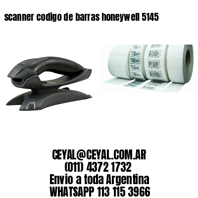 scanner codigo de barras honeywell 5145