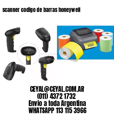 scanner codigo de barras honeywell